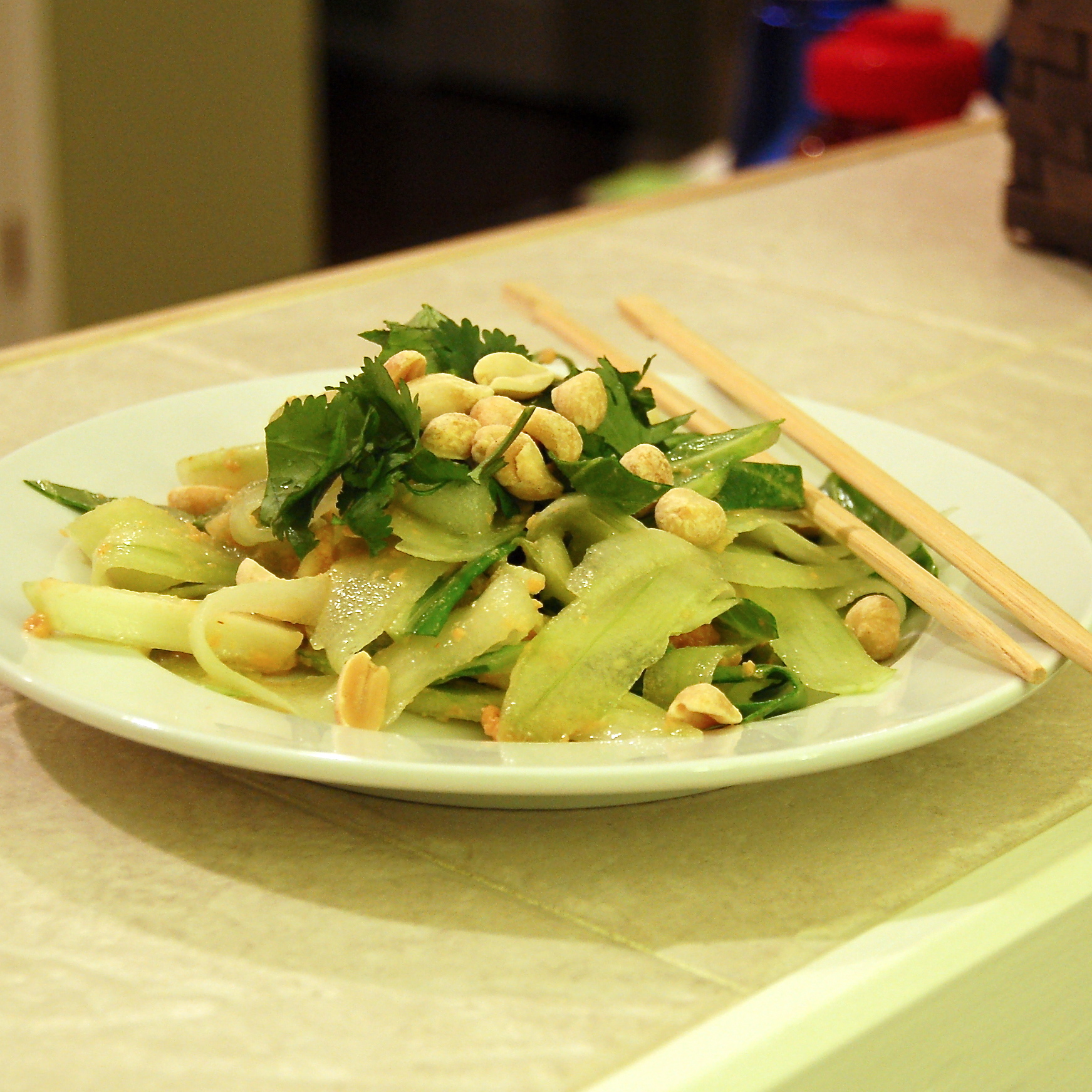 Bok Choy And Pineapple Salad With Peanut Dressing Recipe ...